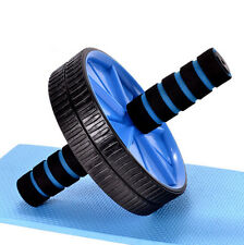 New Ab Abdominal Fitness Wheels Stomach Roller Workout Gym Exercise Roller HIAU