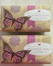 2 Pack CST CommonWealth Butterfly Peony Glitter Luxurious Bath Bar Scented Soap
