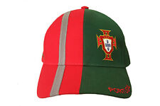 PORTUGAL RED  GREEN FPF LOGO ON BRIM FIFA WORLD CUP  EMBOSSED HAT CAP.. NEW