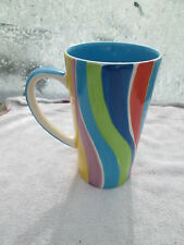 Mug Whittard Of Chelsea Large Mug colourful wave colours 6 1/4 ins in height