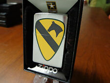 UNITED STATES US ARMY 1ST CAVALRY ZIPPO LIGHTER MINT 2016