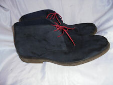 REDTAPE MEN'S BLUE SUEDE LEATHER LACE UP ANKLE BOOT SIZE UK 11 EU 45 VGC