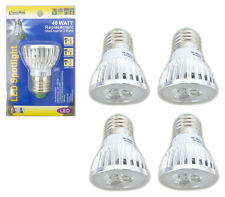 4 Pack 3 Watt LED 110V Light Bulbs = 40 Watt Replacement Energy Saving 80% Bulb