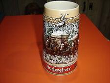 """Anheuser-Busch  """"C"""" Series Budweiser Christmas Stein Mug"""