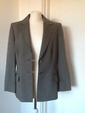 Virgin Wool Grey Pinstripe fitted Jacket Size 12 *stunning* from PLANET