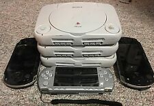 Wholesale Lot Of -6- Sony PlayStation PSone Slim And PSP Console Systems AS-IS