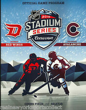 2016 STADIUM SERIES COLORADO AVALANCHE DETROIT RED WINGS PROGRAM RARE