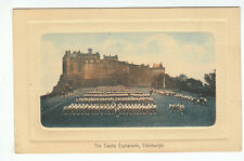 The Castle Esplanade Edinburgh Hills Elite Series ED 76 Old Postcard Unposted