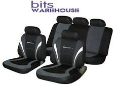 Fiat Stilo SPORTS Fabric Car Seat Covers Full Set in BLACK & GREY