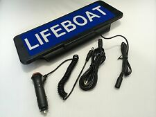 LED Univisor LIFEBOAT with blue background Sign visor illuminated flashing