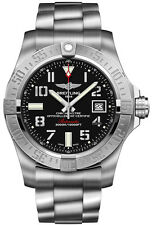 NEW BREITLING AVENGER II SEAWOLF AUTOMATIC BLACK DIAL MEN'S WATCH A1733110-BC31