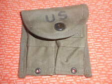 U.S.ARMY:VIET NAM WAR 1 MAGAZINE POUCH,DOUBLE,WEB,CARBINE 1957