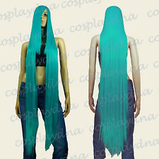 50 inch Heat Styable Wigs w 22 inch Extra long Bang Miku Green Cosplay DNA 99MGG