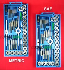 80 pc Tap and Die Set SAE & METRIC w/ Cases Screw Extractor Kit Remover NEW