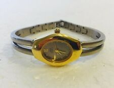 Anne Klein II Two Tone Ladies Gold Colored Wrist Watch - Needs Battery
