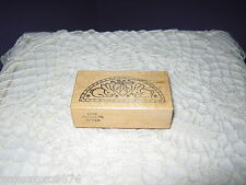 PSX - Rubber Stamp - Bunnies/Rabbits with Heart & Carrots - Half Circle Sampler