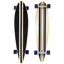 "Charles Bentley 42"" Retro Mini Cruiser Wooden Longboard Skateboard Blue - Age 6+"