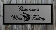 "Custom Wine Tasting Vinyl Wall Quote Sticker Decal 17""h x 36""w"