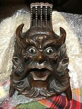 Antique, Wooden, Indian, Chinese, Face, Mask, Wall Hanger, Art, Rosewood