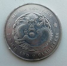 CHINA HUPEH PROVINCE 1895-1905 1 DOLLAR 7 mace 2 candareens