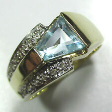 1176 - Attraktiver Ring aus Gelbgold 585 - Topas und Diamanten --- Video 1854