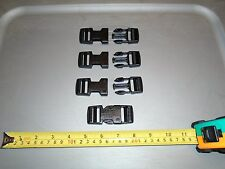 4 GENUINE US MILITARY MOLLE ITW NEXUS FASTEX SR1 DOUBLE ADJUST BLACK BUCKLES 1""