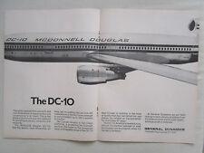 8/1970 PUB GENERAL DYNAMICS CONVAIR FUSELAGE MCDONNELL DOUGLAS DC-10 AIRLINER AD