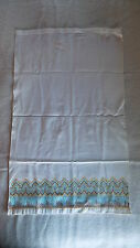Vintage Huck Embroidered Towel GOLD,TURQUOISE,BROWN DESIGN