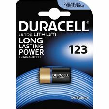 10 PILE BATTERIE DURACELL 123 DL123A CR123A CR17345 3V LITIO LITHIUM
