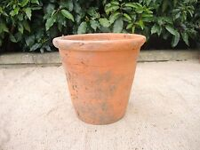 "Rare Old  Hand Thrown  Terracotta Plant Pot  9.5"" Diameter (45)"