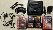 Sega Genesis System With Hookups & 6 Games (Sonic [Hedgehog] Spinball) (Console)