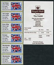 """The FAAM"" V.E. VE DAY 70 OPT TIII FLAG COLL SET/6 FLAGS POST & GO"