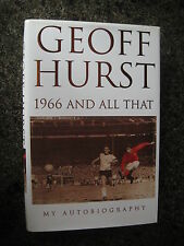 Double Signed First Ed 1966 And All That by Geoff Hurst (1966 World Cup Winner)