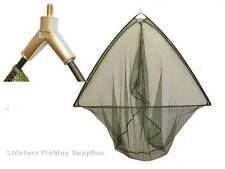 "50"" inch Carp Pike Fishing Landing Net With Metal Block Green Mesh Carp Tackle"