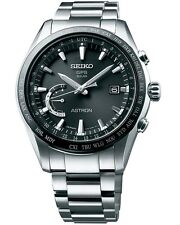 New Seiko Astron Solar GPS Ceramic Bezel Titanium Men's Watch SSE085