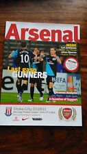 Arsenal vs Stoke City 2011/12 Premier League Programme
