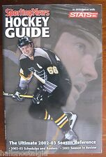 "2002-03 ""Sporting News Hockey Guide"" STATS: Cover: Mario Lemieux Penguins    ."