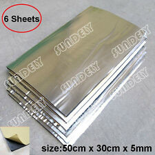 6 Sheets Self Adhesive Closed Cell Foam Glass Fibre 5mm Car Sound Insulation