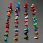 120pcs 60Pair Trendy Assorted High Heel Shoes For Barbie Doll Clothe Accessories