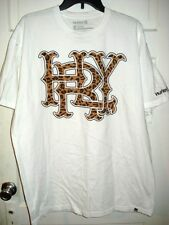 Hurley Mens T-shirt Tee White Logo 100% Cotton Classic Fit Size XL XLarge