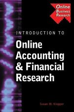 Introduction to Online Accounting & Financial Research (Business Research Soluti