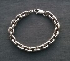 """SUPERB quality heavy Solid 925 Sterling SILVER smooth rounded ANCHOR bracelet 8"""""""