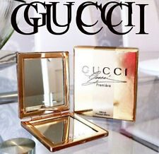 100%AUTHENTIC Exclusive GUCCI GOLD COUTURE BEAUTY HANDBAG TRAVEL DOUBLE MIRROR