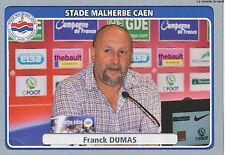 N°104 FRANCK DUMAS # STADE MALHERBE CAEN VIGNETTE STICKER  PANINI FOOT 2012