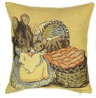 "NEW 14"" BEATRIX POTTER HUNCA MUNCA CUSHION COVER 100% COTTON, 872"