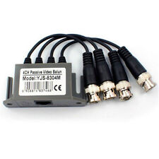 4 Channel Passive CCTV Camera UTP BNC Video Balun Transceiver Rj45 CAT5 Cable