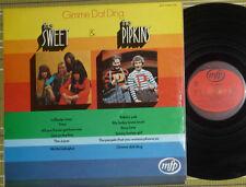 THE SWEET, GIMME DAT DING /DEBUT ALBUM/ LP 1970 UK VG/VG+, LAMINATED FRONT/SL