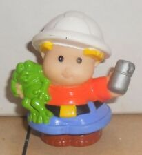 Fisher Price Current Little People Construction Worker Holding Thermos FPLP