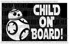 Star wars sphero BB-8 enfant à bord autocollant vinyle signal de sécurité pas robot jouet modèle