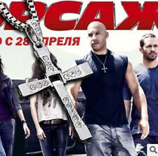 Wholesale The Fast And Furious Dominic Toretto Rhinestone Cross Pendant Necklace
